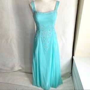 Alyce Paris S/M Silk Chiffon Formal Dress Mint